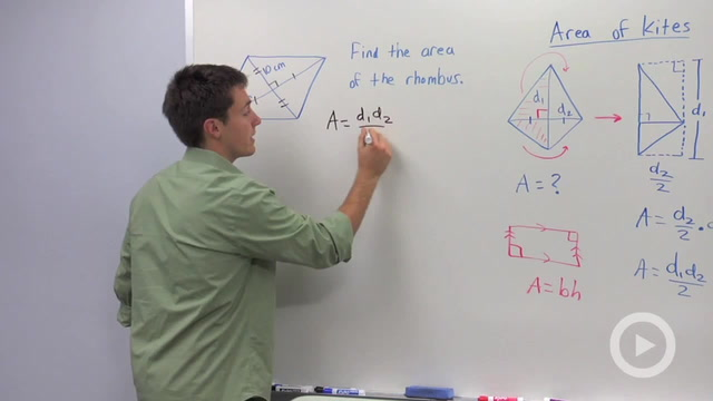 Area of Kites and Rhombuses - Problem 3