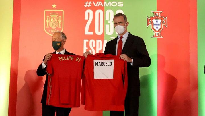 España y Portugal presentan en el Wanda su candidatura para el Mundial 2030