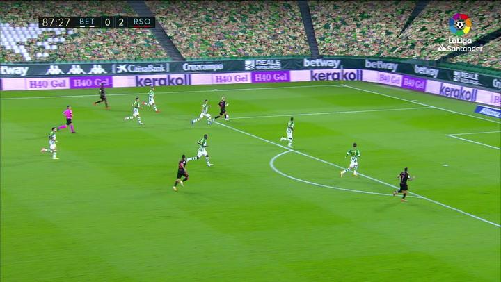 Gol de Januzaj (0-3) en el Betis 0-3 Real Sociedad