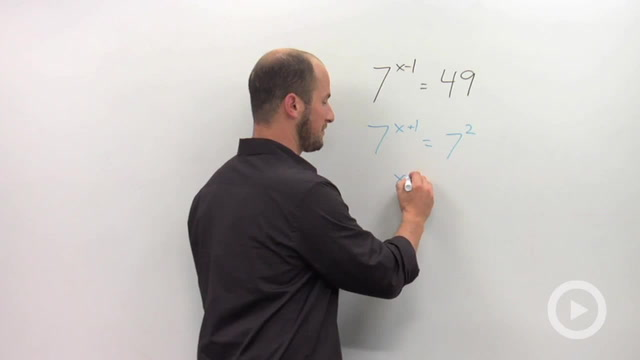 Solving Exponential Equations with the 'Same' Base - Problem 1