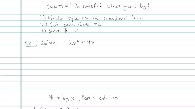 Solving Quadratic Equations by Factoring - Problem 15