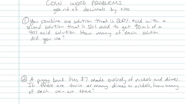 Coin Word Problems - Problem 3
