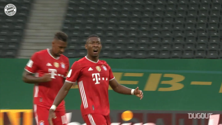 David Alaba's cup final free-kick vs Leverkusen