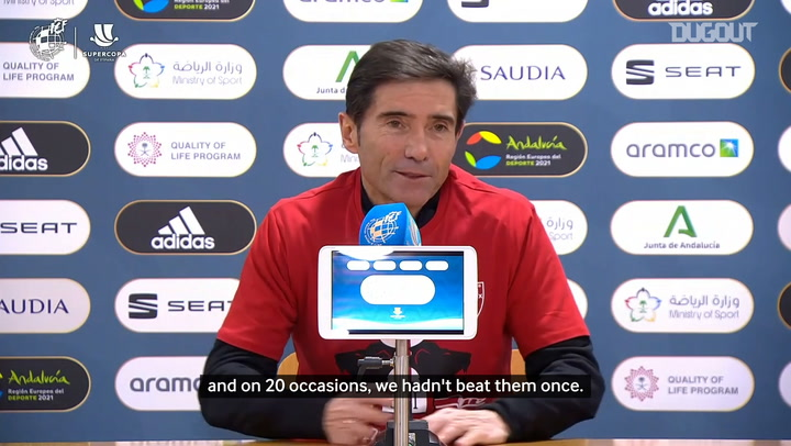 Marcelino on beating Barcelona in two consecutive finals