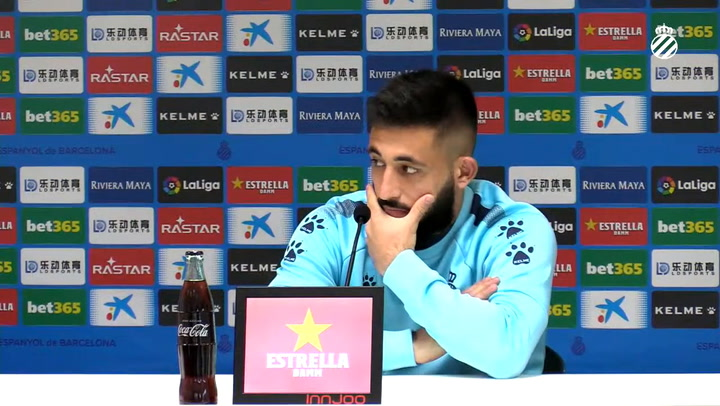 La rueda de prensa de Matías Vargas (Espanyol)