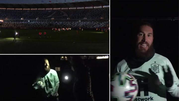 ¡Se fue la luz en Georgia! La viral reacción de Sergio Ramos tras un apagón durante un entrenamiento