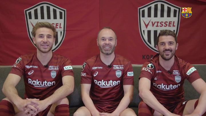Iniesta, Villa y Samper ya esperan al Barça en Japón