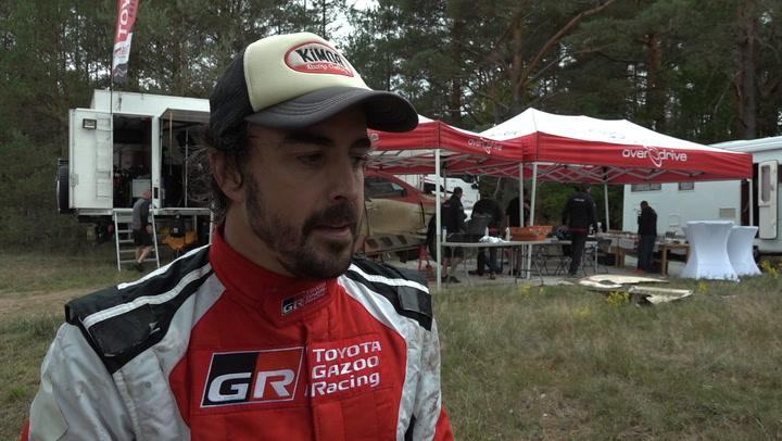 Alonso prueba el Toyota del Dakar en Polonia