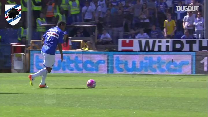 Fernando's equaliser for Sampdoria against Lazio