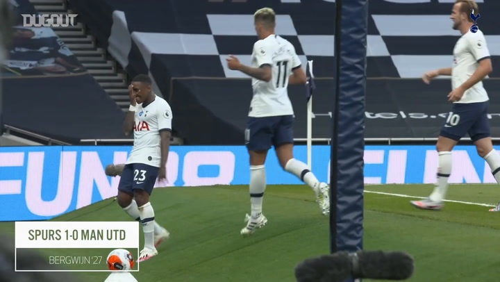 Pitchside view: Steven Bergwijn's goal vs Man United