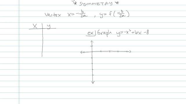 Graphing Quadratic Equations - Problem 5
