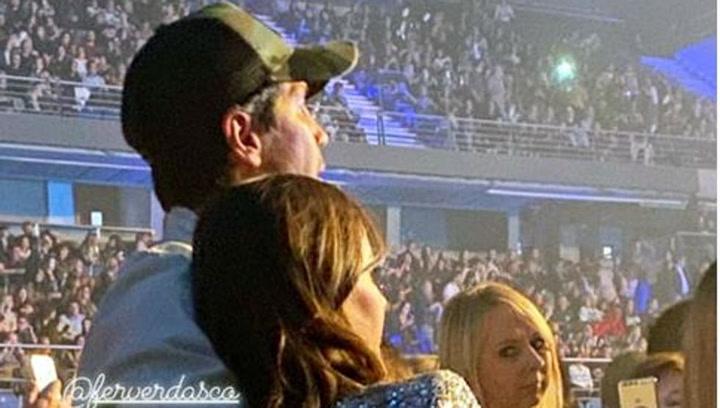 Ana Boyer y Fernando Verdasco disfrutan del concierto de Enrique Iglesias