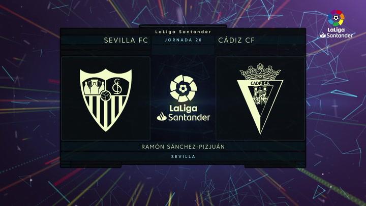 LaLiga Santander (J20: Resumen y goles del Sevilla 3-0 Cádiz