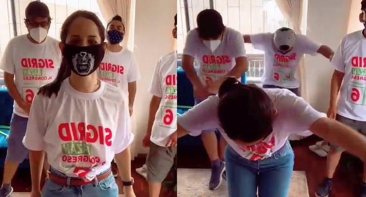 """Sigrid Bazán hace TikTok con jóvenes de su campaña: """"Cuando los chicos se prestan, los haces bailar"""""""