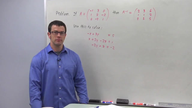 Solving Linear Systems Using Matrix Algebra - Problem 2
