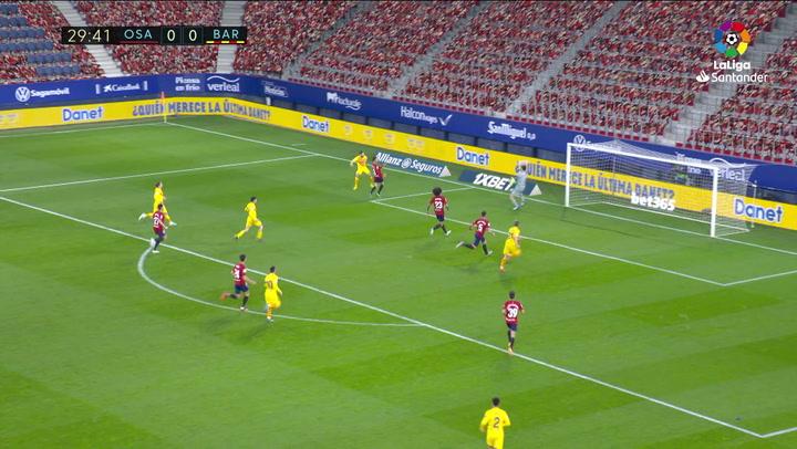 Gol de Jordi Alba (0-1) en el Osasuna 0-2 Barcelona