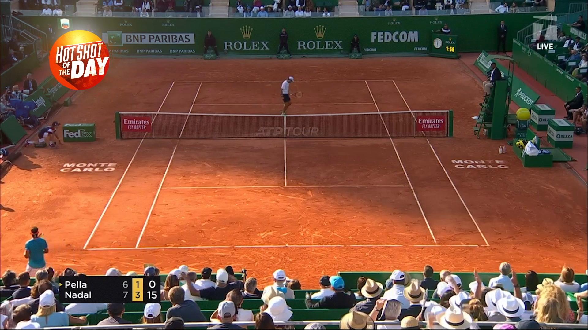 Hot Shot: Nadal hits winner off an overhead