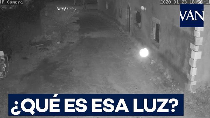 ¿Qué es esa luz que capta la cámara de seguridad?