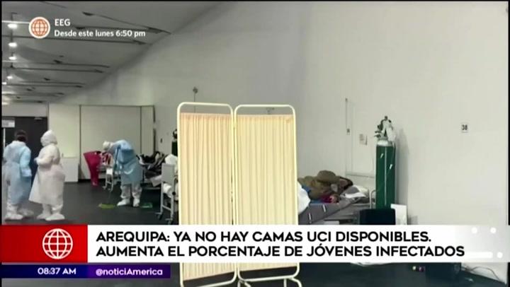 Arequipa se queda sin camas UCI: Número de pacientes se triplicó y afectados son cada vez más jóvenes