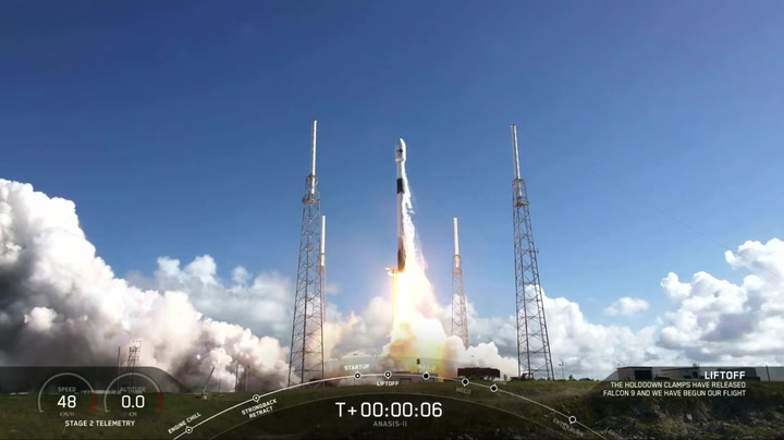 Blastoff! SpaceX Demo-2 rocket flies again to launch military satellite