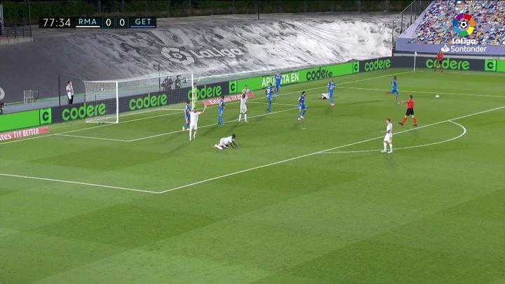 Gol de Sergio Ramos (p.) (1-0) en el Real Madrid 1-0 Getafe