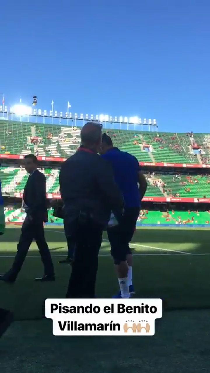 Dani Parejo en la previa de la final de Copa