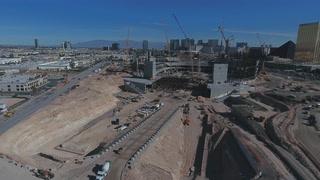 Raiders Stadium construction in Las Vegas