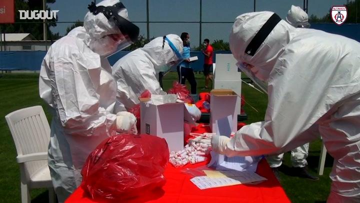 Altınordu Oyuncularının Virüs Testi Günü