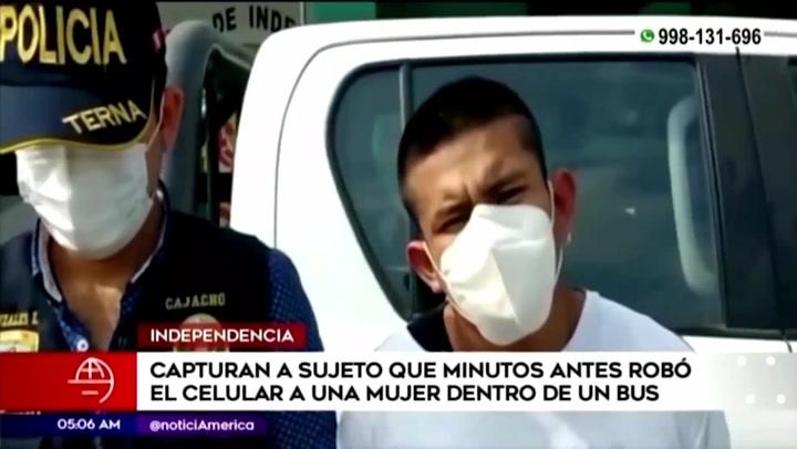 Agentes del grupo Terna capturan a sujeto dedicado a robar celulares en Independencia