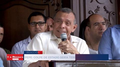Pepe: ''Golpe de estado sería terrible para Honduras''