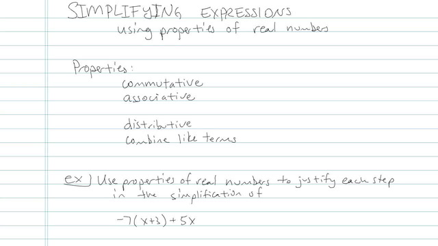 Simplifying Expressions and Combining Like Terms - Problem 4