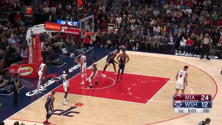 Jordan McRae (Wizards), el más destacado de la jornada de la NBA del 30 de diciembre 2019