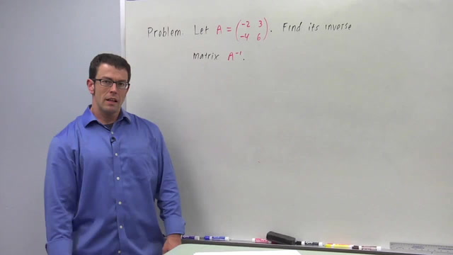 The Inverse of a Square Matrix - Problem 2
