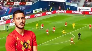 ¡Magnífico doblete! Bienvenidos al recital de Eden Hazard ante Rusia