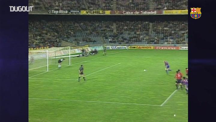 El Barcelona le endosa ocho goles al Osasuna en 1994