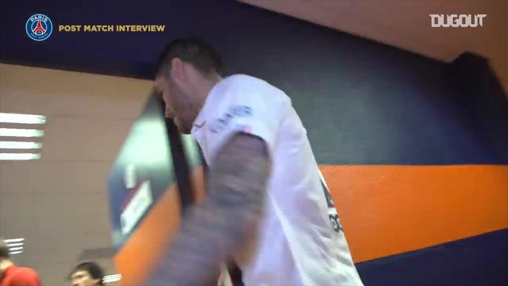 Behind The Scenes: Paris Saint-Germain Celebrate Montpellier Win