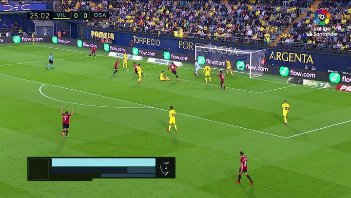Gol de Lucas Torro (0-1) en el Villarreal 1-2 Osasuna