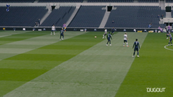 Spurs playing training game at Tottenham Hotspur Stadium