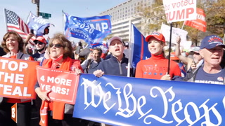Trump Supporters Sing Gospel Song at Pro-Trump March in D.C.