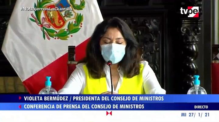 """Violeta Bermúdez: """"Hemos coordinado con el Banco de la Nación y con Asbanc para tener una forma de pago de bonos que evite las aglomeraciones"""""""