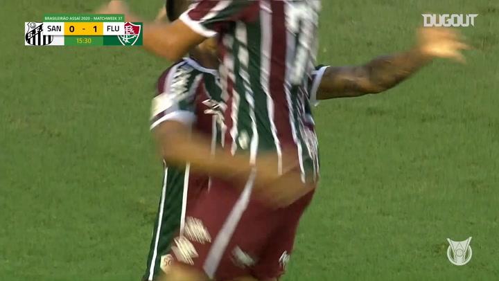Highlights Brasileirão: Santos 1-1 Fluminense