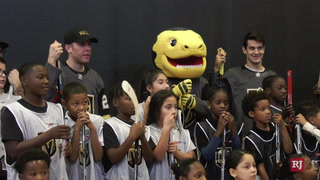 Golden Knights' Max Pacioretty, Paul Stastny Host Street Hockey Clinic for Kids – Video