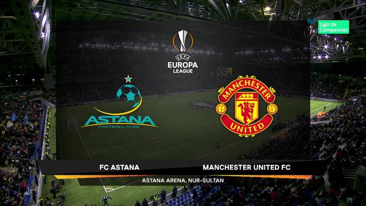 Europa League Resumen y Goles del Astana - Manchester United