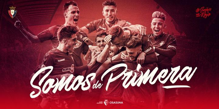 El Osasuna asciende a Primera División