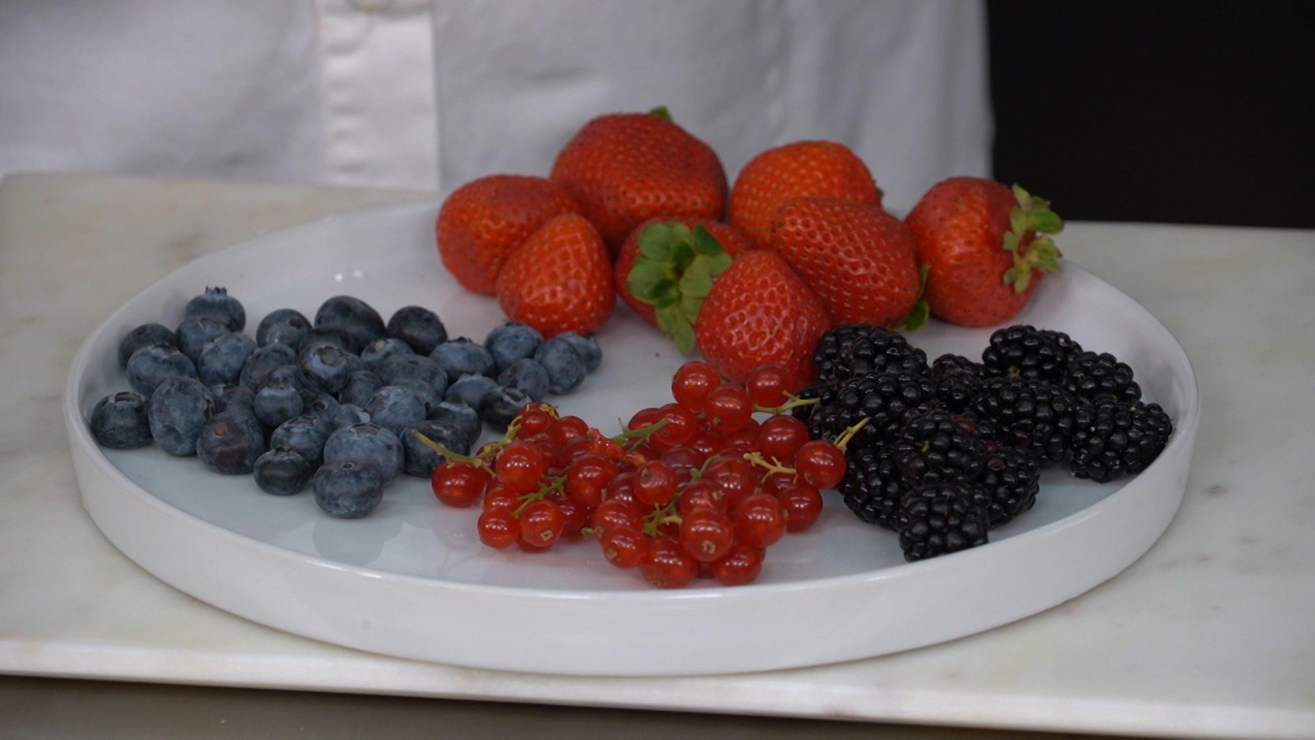 Los frutos rojos perfectos para la tarta