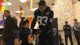 Raiders Serve Lunch at Jack Dailey Elementary – VIDEO