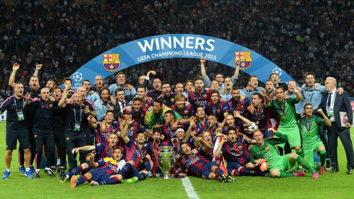 El Barça recuerda la final de la Champions League de Berlín 2015