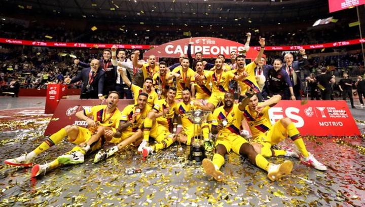 El Barça se proclama campeón de la Copa de España de fútbol sala