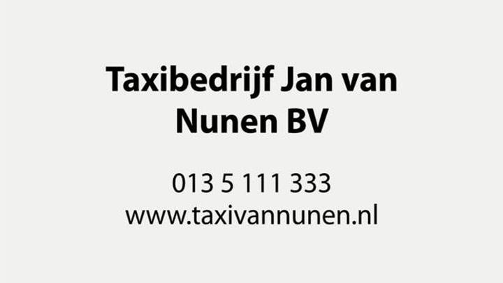 Taxibedrijf Nunen BV Jan van
