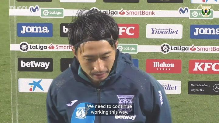 Gaku Shibasaki's words after scoring his first goal for Leganés